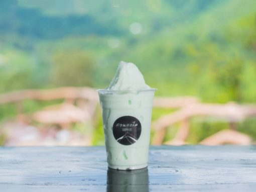 White chocolate mint frappe